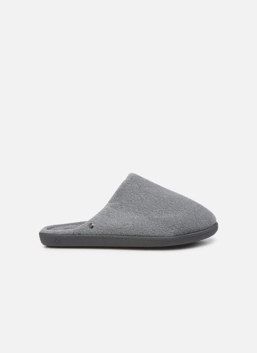 Slippers Isotoner Mule velours semelle ergonomique H Grey back view