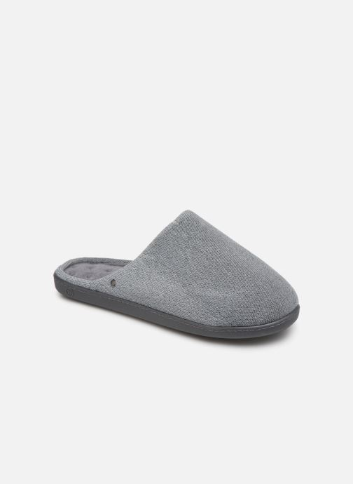Slippers Isotoner Mule velours semelle ergonomique H Grey detailed view/ Pair view