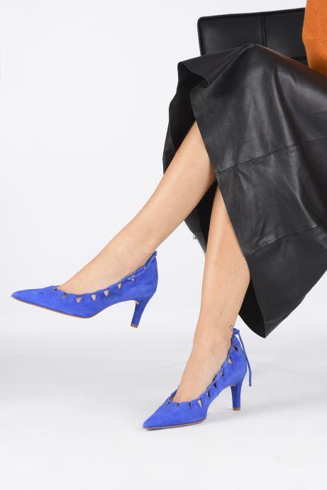 Escarpins Elizabeth Stuart Rysoul 300 Bleu vue bas / vue portée sac