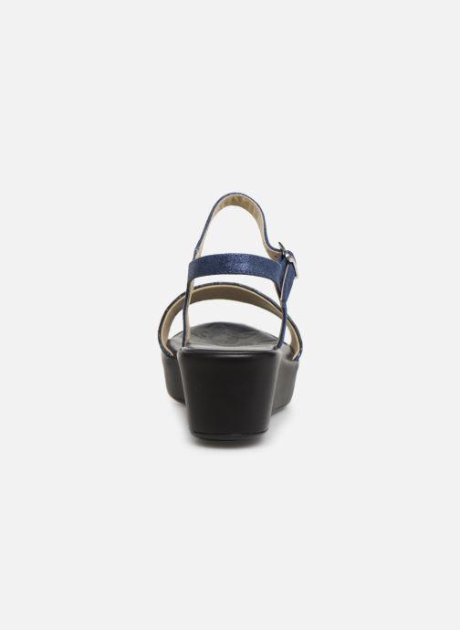 Sandales et nu-pieds Elizabeth Stuart Villau-G 464 Bleu vue droite