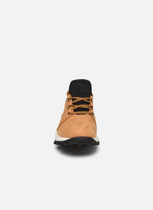 Baskets Timberland Brooklyn Lace Oxford Marron vue portées chaussures