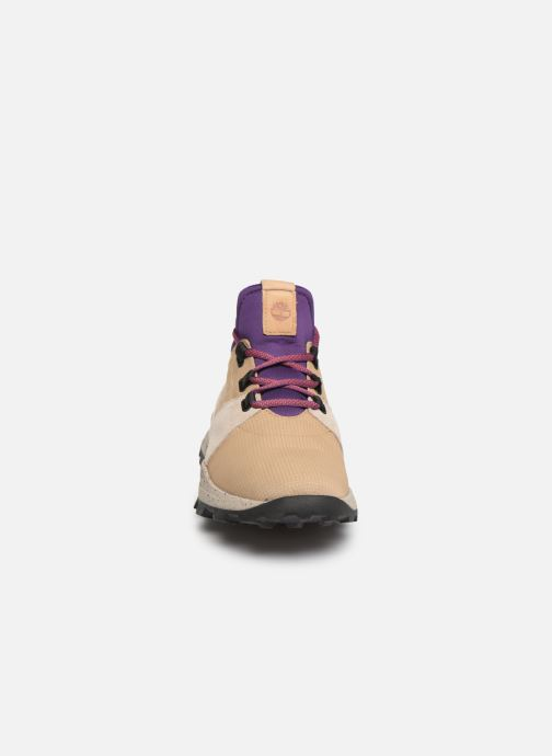 Baskets Timberland Brooklyn L/F Oxford Beige vue portées chaussures