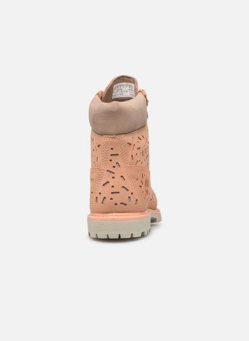 Botines  Timberland 6in Premium Boot w/Perf Naranja vista lateral derecha