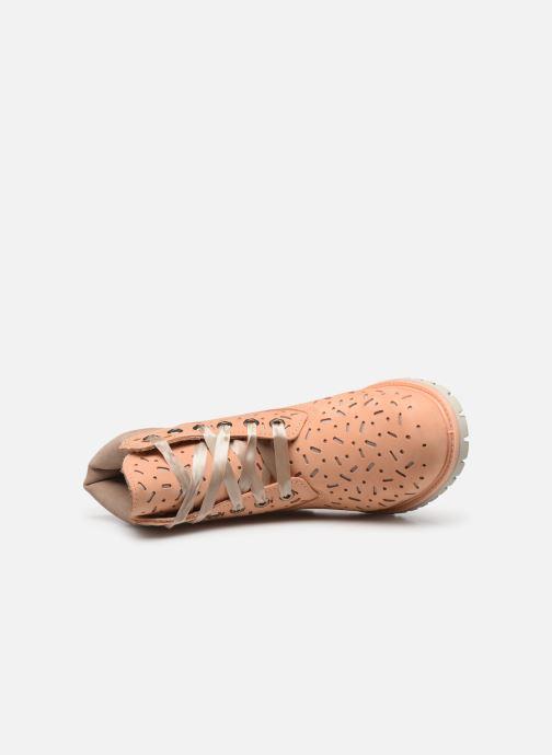 Botines  Timberland 6in Premium Boot w/Perf Naranja vista lateral izquierda