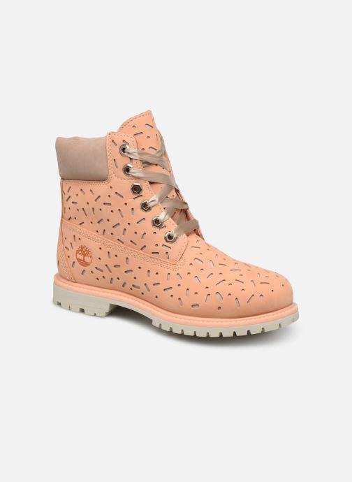 Bottines et boots Timberland 6in Premium Boot w/Perf Orange vue détail/paire