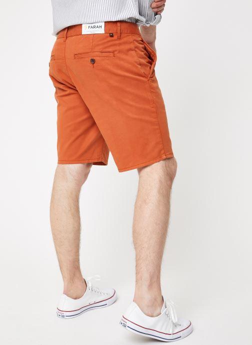 Vêtements Farah F4HS9073 Orange vue portées chaussures