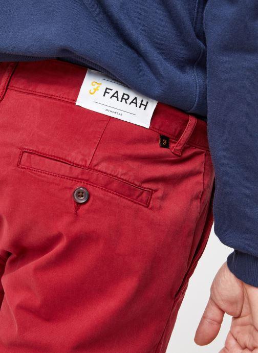 Vêtements Farah F4HS9073 Rouge vue face