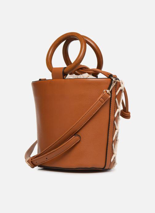 Handtaschen I Love Shoes BASSEAU Filet braun ansicht von rechts