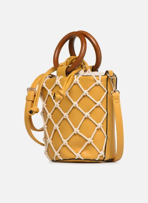 Bolsos de mano I Love Shoes BASSEAU Filet Amarillo vista del modelo