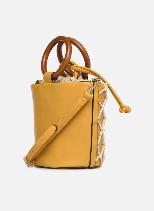 Handtaschen I Love Shoes BASSEAU Filet gelb ansicht von rechts