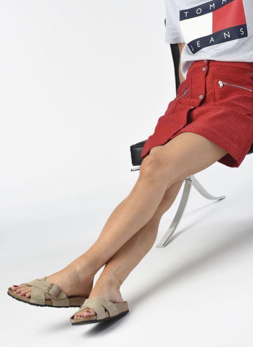 Clogs & Pantoletten Birkenstock Siena Cuir Suede W grau ansicht von unten / tasche getragen