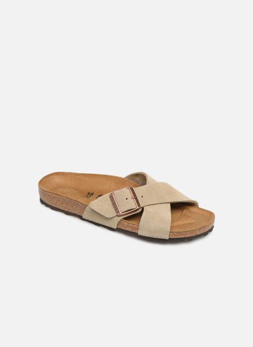 Clogs & Pantoletten Birkenstock Siena Cuir Suede W grau detaillierte ansicht/modell