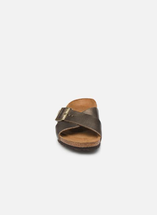Mules et sabots Birkenstock Siena Cuir W Or et bronze vue portées chaussures