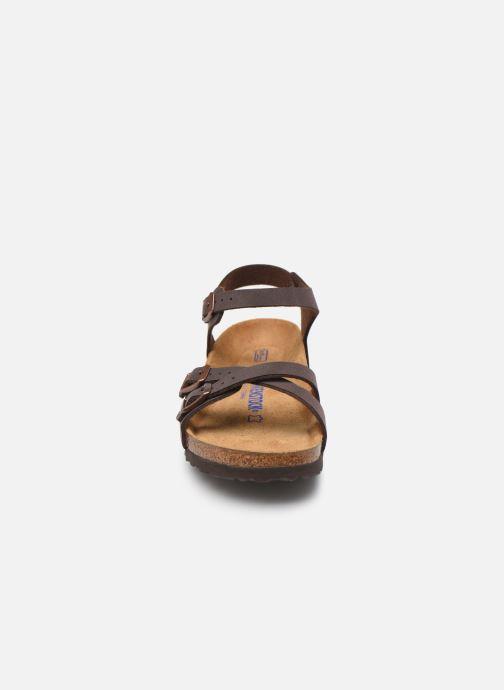 Sandales et nu-pieds Birkenstock Kumba Flor Soft Footbed W Marron vue portées chaussures