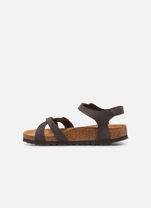 Sandales et nu-pieds Birkenstock Kumba Flor Soft Footbed W Marron vue face