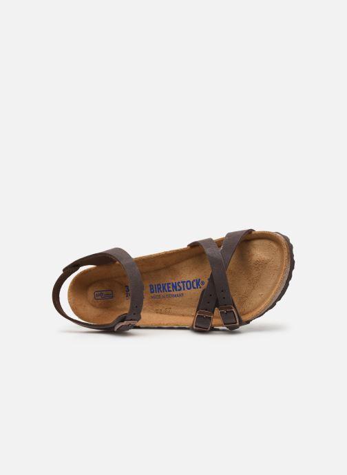 Sandaler Birkenstock Kumba Flor Soft Footbed W Brun se fra venstre