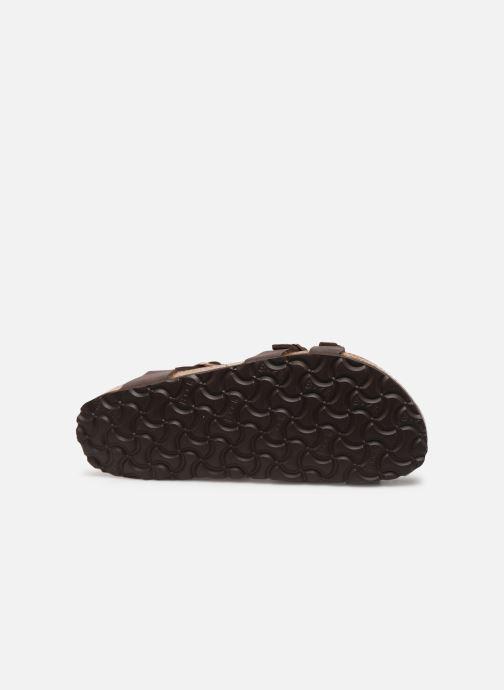 Sandales et nu-pieds Birkenstock Kumba Flor Soft Footbed W Marron vue haut