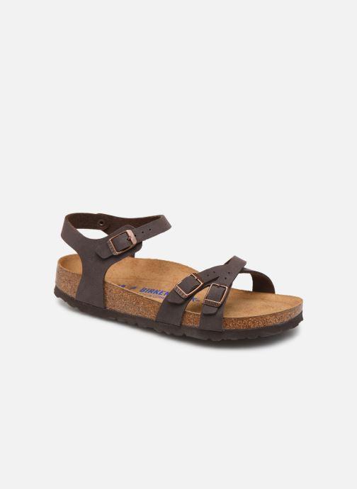 Sandales et nu-pieds Birkenstock Kumba Flor Soft Footbed W Marron vue détail/paire