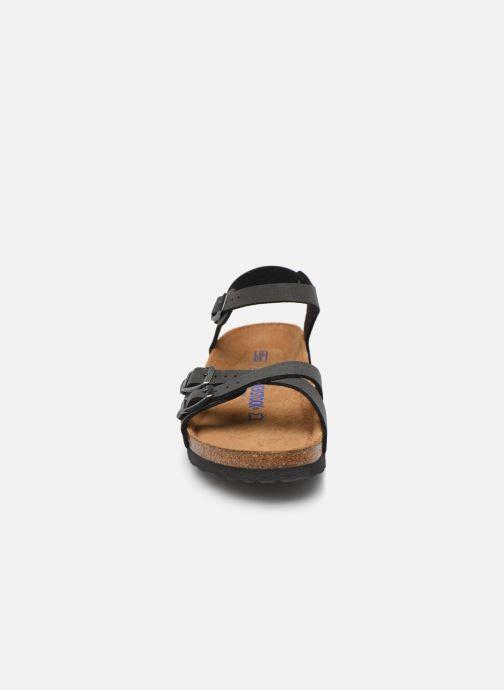 Sandalen Birkenstock Kumba Flor Soft Footbed W schwarz schuhe getragen