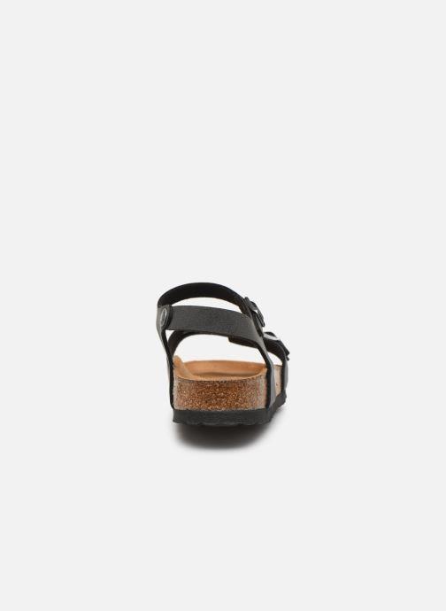 Sandalias Birkenstock Kumba Flor Soft Footbed W Negro vista lateral derecha