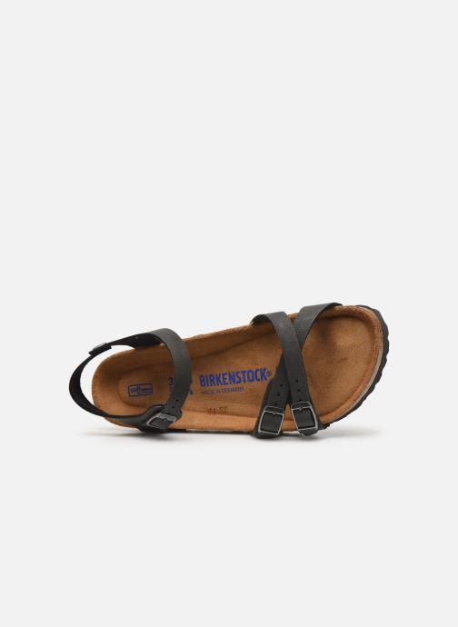 Sandalias Birkenstock Kumba Flor Soft Footbed W Negro vista lateral izquierda