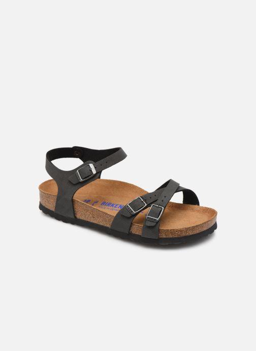 Sandales et nu-pieds Birkenstock Kumba Flor Soft Footbed W Noir vue détail/paire