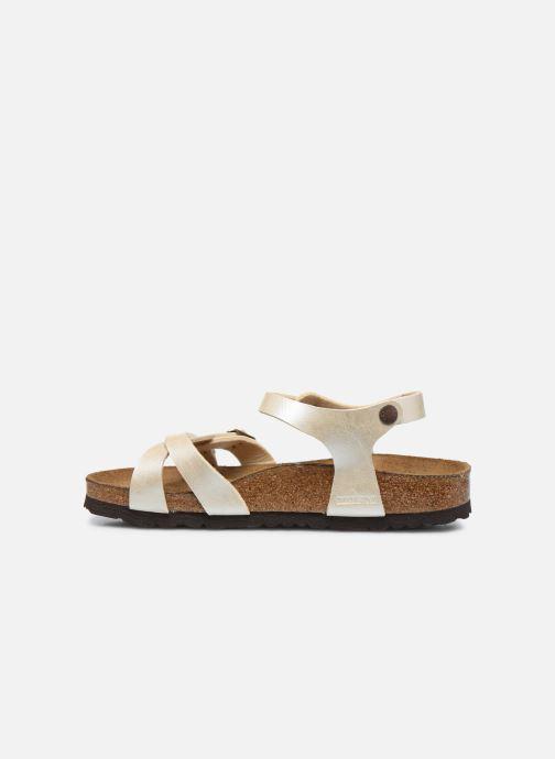 Sandalias Birkenstock Kumba Flor Soft Footbed W Blanco vista de frente
