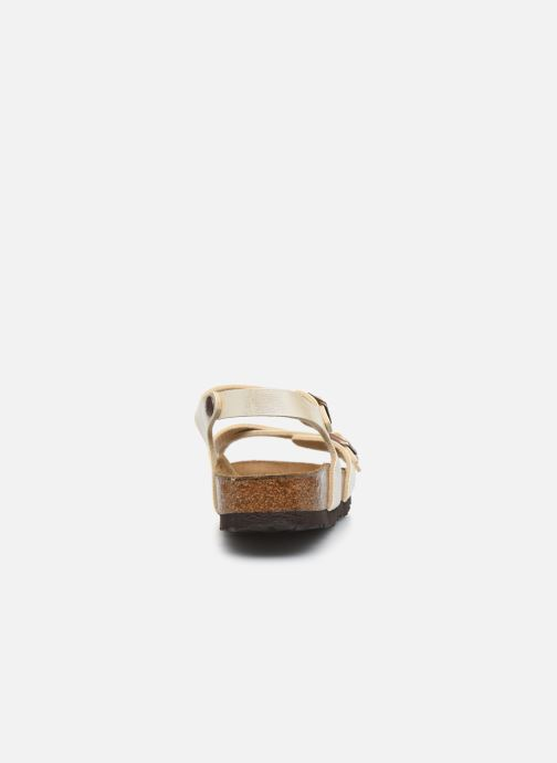 Sandalias Birkenstock Kumba Flor Soft Footbed W Blanco vista lateral derecha