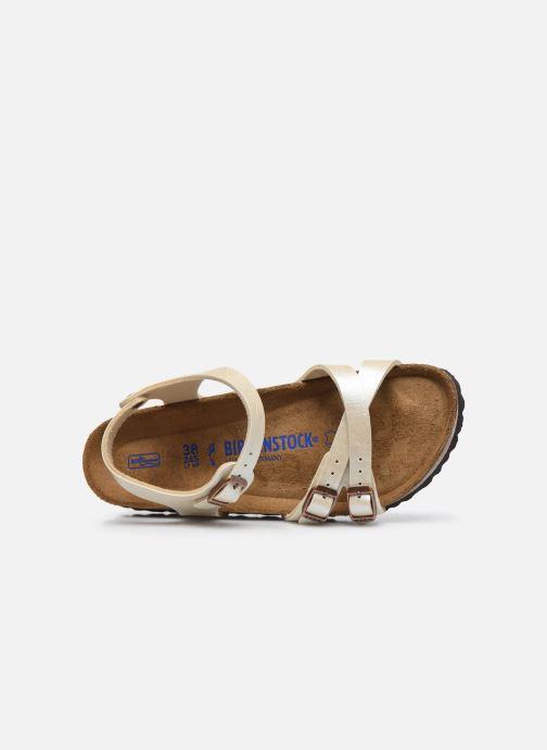 Sandalias Birkenstock Kumba Flor Soft Footbed W Blanco vista lateral izquierda