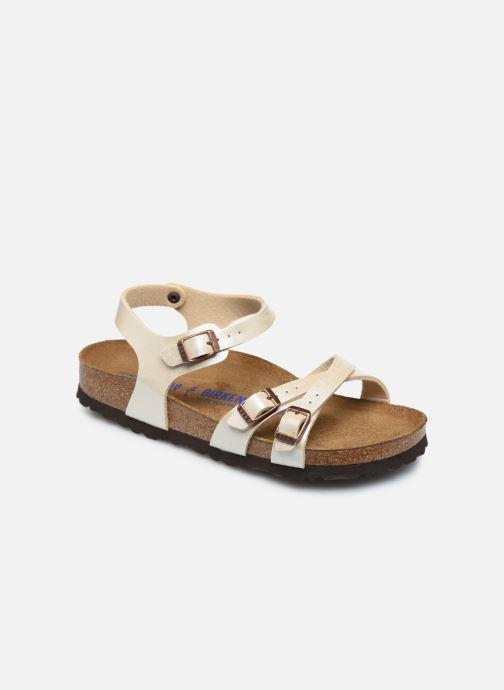 Sandales et nu-pieds Birkenstock Kumba Flor Soft Footbed W Blanc vue détail/paire