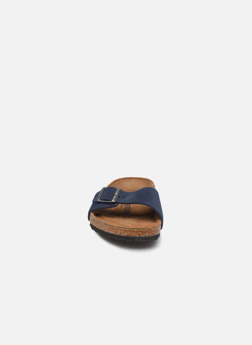 Sandalen Birkenstock Madrid Cuir Suede M blau schuhe getragen