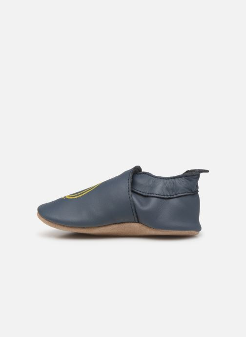 Slippers Bobux Xo navy Blue front view