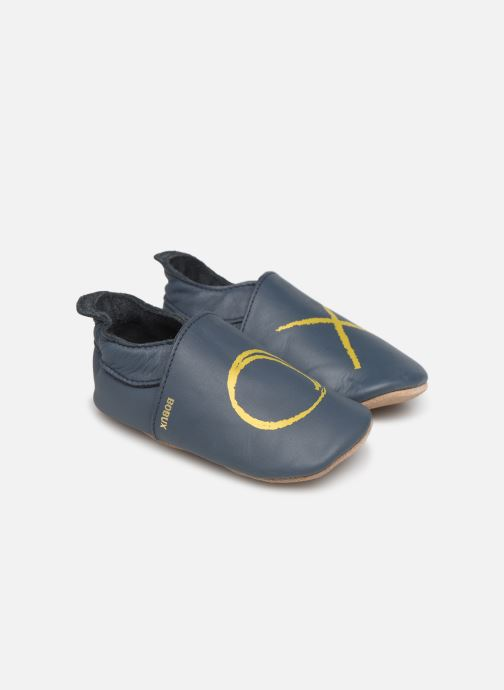 Slippers Bobux Xo navy Blue detailed view/ Pair view