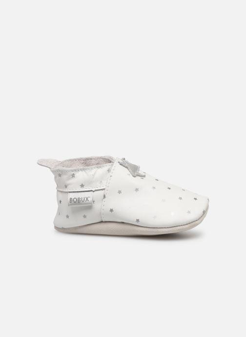 Slippers Bobux Blanc étoiles argentés imprimés White back view