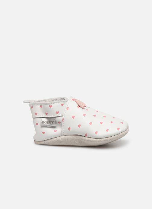 Pantuflas Bobux Blanc rose coeurs imprimés Blanco vistra trasera