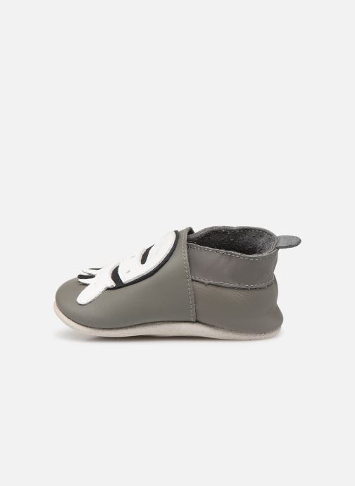 Slippers Bobux Zebre gris Grey front view
