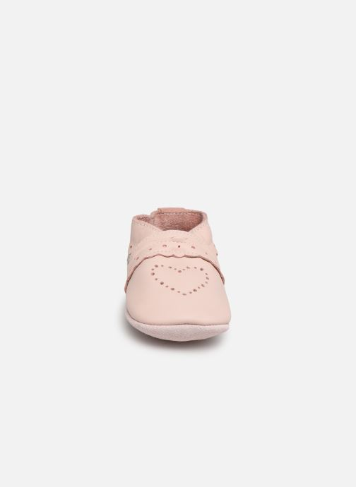 Slippers Bobux Pointillés coeurs roses Pink model view
