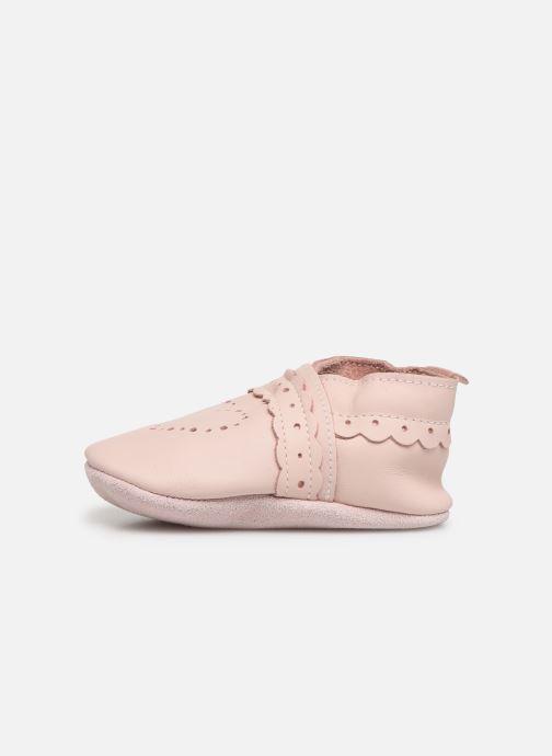 Pantoffels Bobux Pointillés coeurs roses Roze voorkant