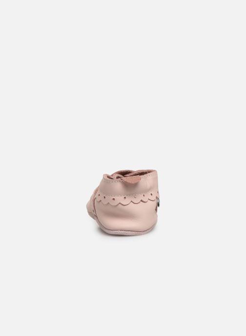 Pantoffels Bobux Pointillés coeurs roses Roze rechts