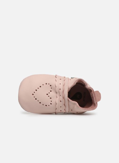 Slippers Bobux Pointillés coeurs roses Pink view from the left