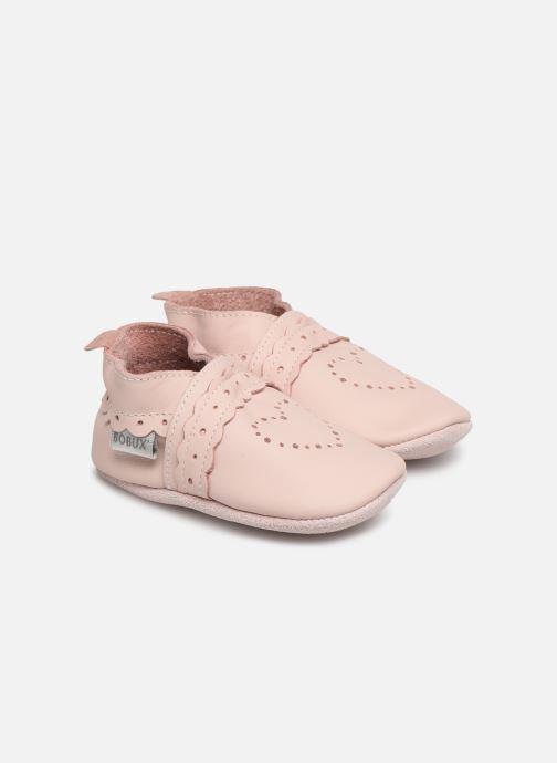 Pantoffels Bobux Pointillés coeurs roses Roze detail