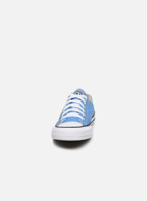 Baskets Converse Chuck Taylor All Star Seasonal Color Ox W Bleu vue portées chaussures