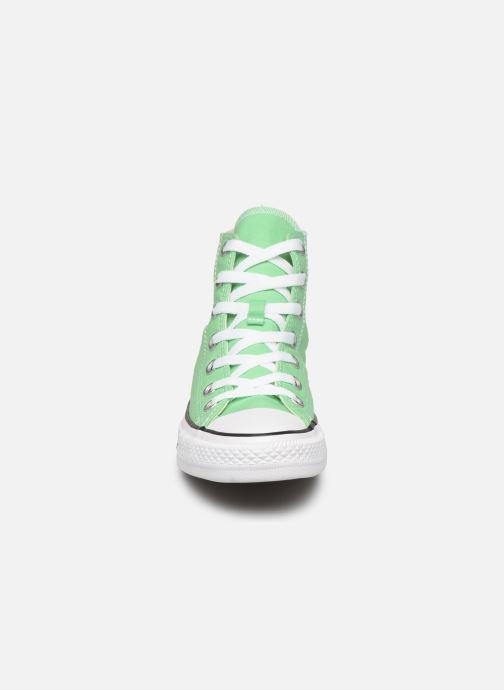 Baskets Converse Chuck Taylor All Star Seasonal Color Hi W Vert vue portées chaussures