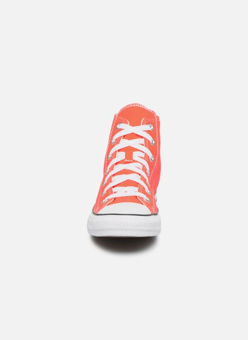 Baskets Converse Chuck Taylor All Star Seasonal Color Hi W Orange vue portées chaussures
