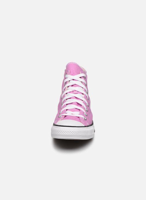 Baskets Converse Chuck Taylor All Star Seasonal Color Hi W Rose vue portées chaussures