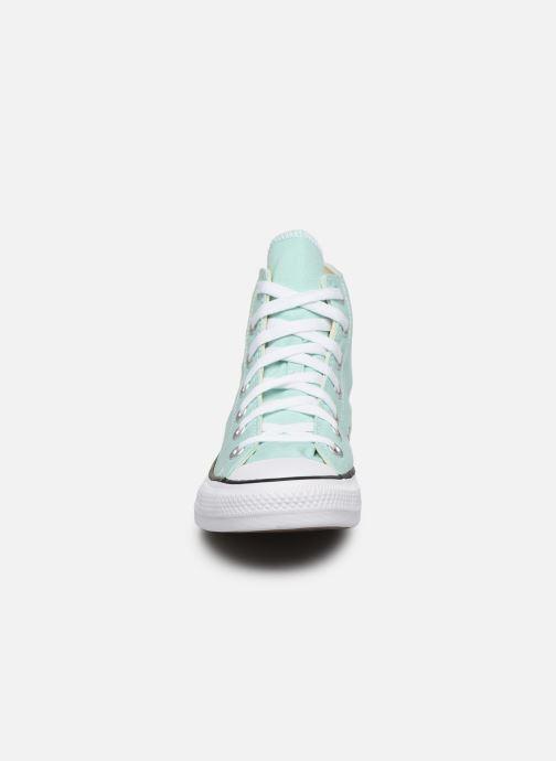 Sneakers Converse Chuck Taylor All Star Seasonal Color Hi W Verde modello indossato