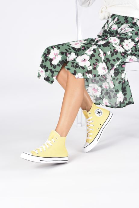 Baskets Converse Chuck Taylor All Star Seasonal Color Hi W Jaune vue bas / vue portée sac