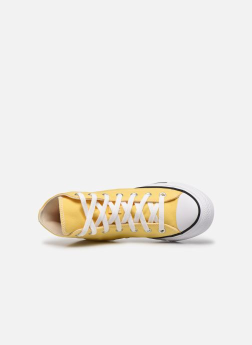 Baskets Converse Chuck Taylor All Star Seasonal Color Hi W Jaune vue gauche