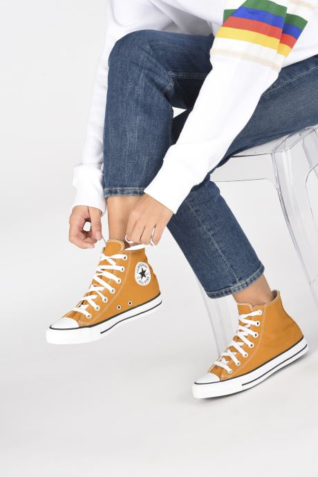 Baskets Converse Chuck Taylor All Star Seasonal Color Hi W Marron vue bas / vue portée sac