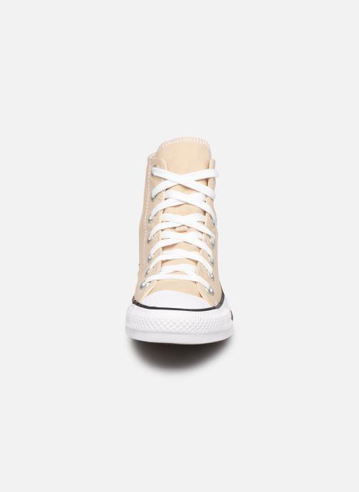 Baskets Converse Chuck Taylor All Star Seasonal Color Hi W Beige vue portées chaussures